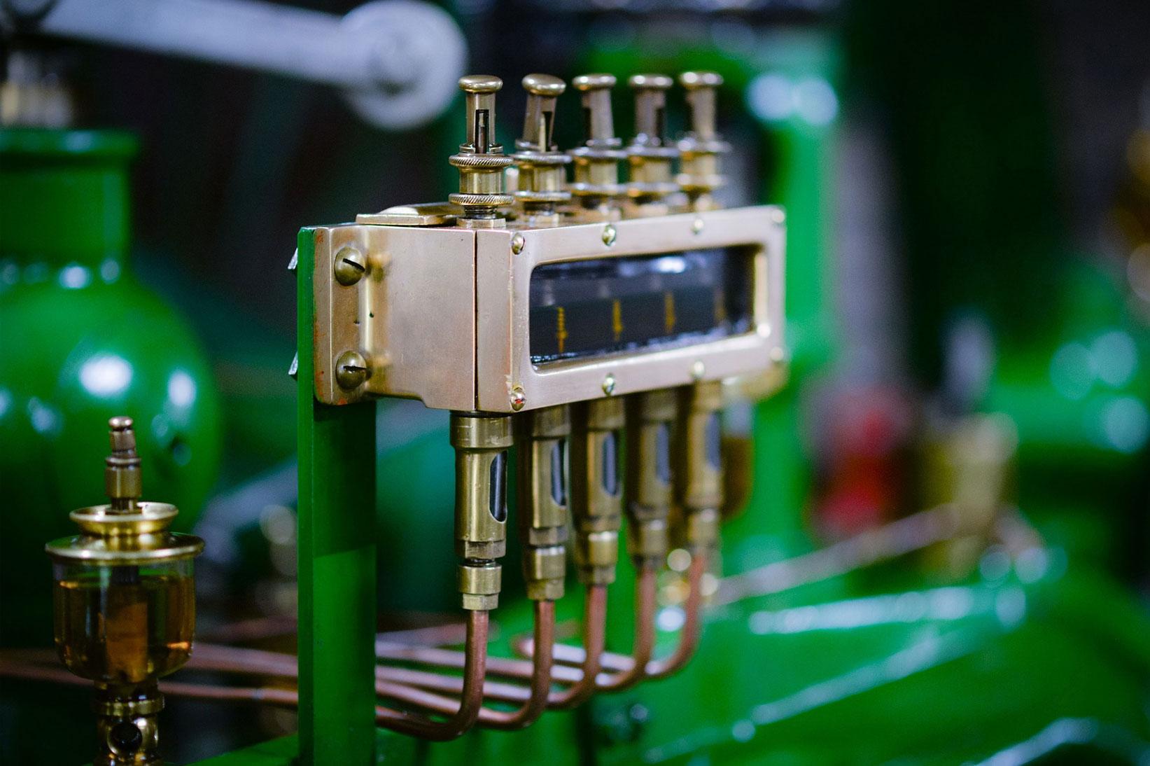 Closeup of mechanical machine